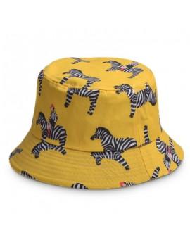 Cartoon Zebra Pattern Bucket Hat