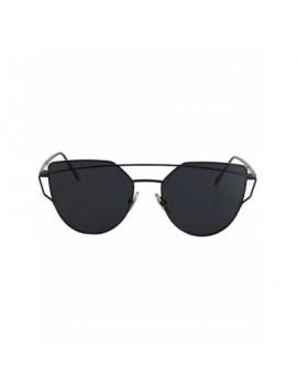 Metal Bar Black Frame Sunglasses For Women
