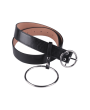 Round Metal Pin Buckle Circle Embellished Belt