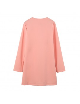 Casual Single-Breasted Pockets Long Sleeve Candy Color Oversized Coat