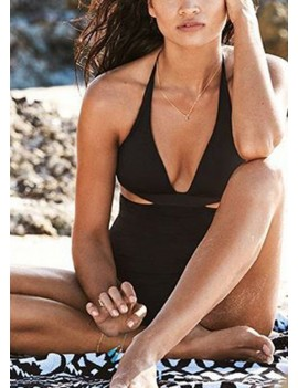 Halter Swimsuit Backless Beach Bathing Suit Monokini Biquini