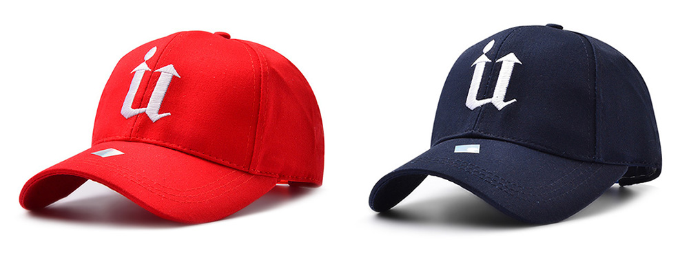 Street Hip-hop U-type Embroidery Sports Cap for Men