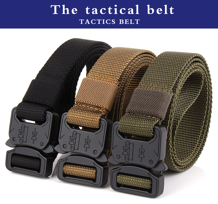 Men Tactical Cobra Deduction Outside The Belt Nylon Outdoor Training Belt